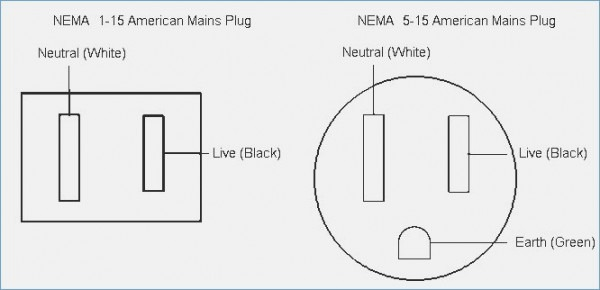 three prong plug wiring black white green