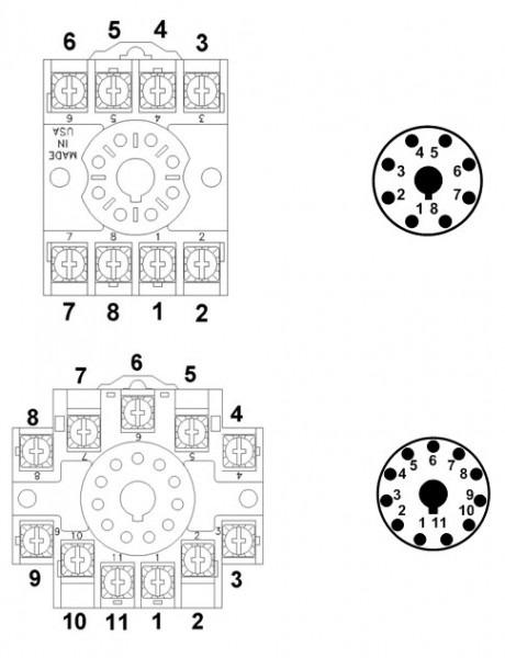 11 pin relay base wiring diagram