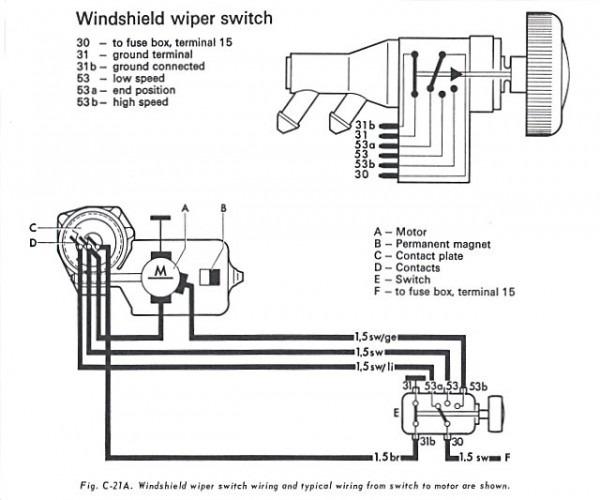 vw thing wiper wiring diagram