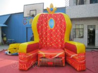 Giant Inflatable Throne Chair - Channal Inflatables