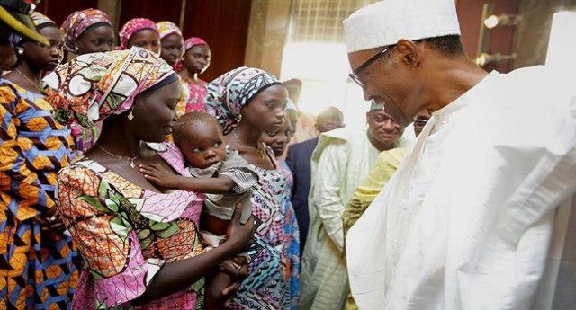 muhammadu-buhari-and-chibok-girls