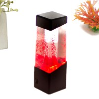 Aquarium LED Motion Lights Lamp Jellyfish Fish Volcano