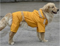 Dog Pet Waterproof Reflective Raincoat Rain Coat Jacket ...