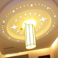 Acrylic DIY Mirror 43pcs Stars 3D Wall Sticker Home ...