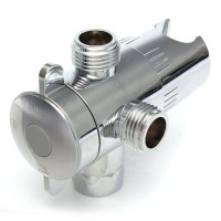 NEW 1/2'' Shower Head Toilet Angle Diverter Valve Three ...