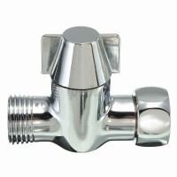 """G1/2"""" Brass Chrome 3-Way Shower Head Diverter Valve for ..."""