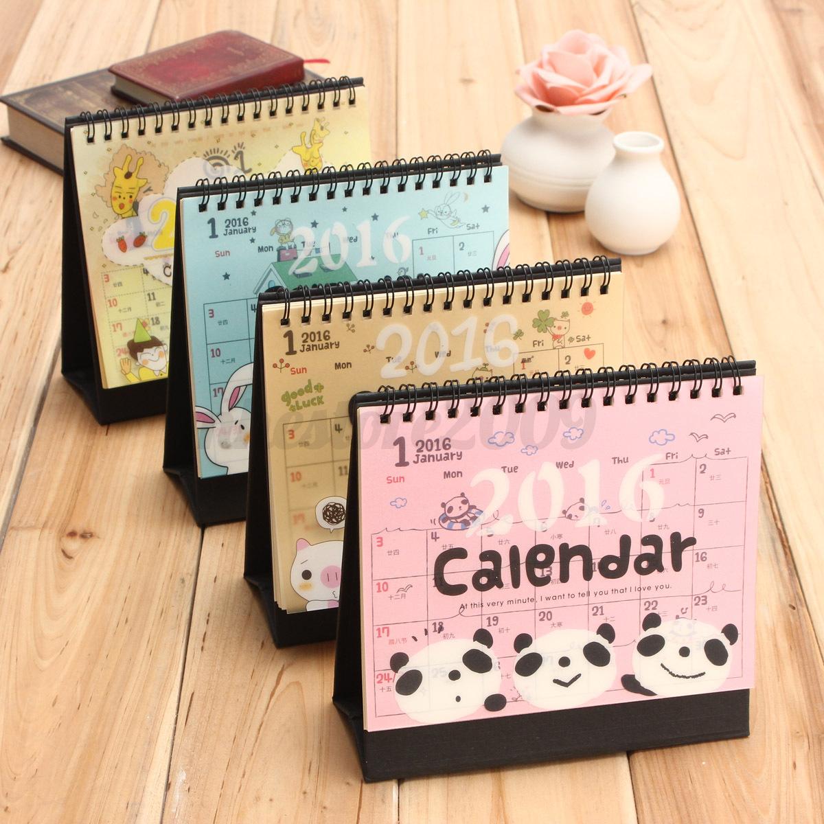 Desk Calendars Calendars New 2016 Cartoon Calendar Desk Table Office Flip Stand