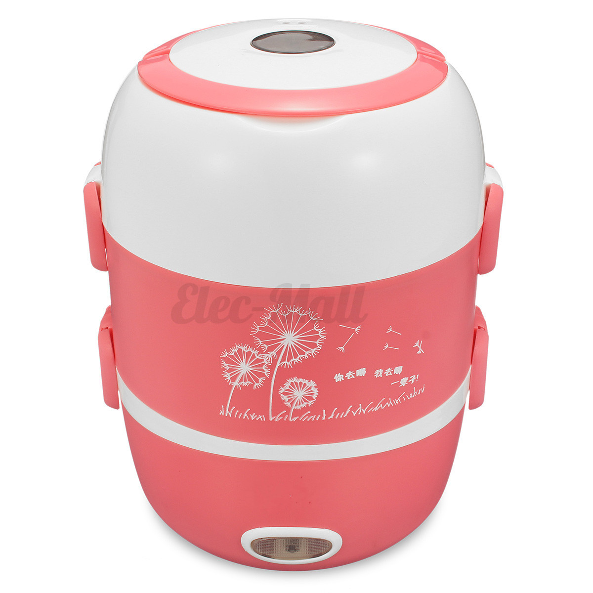 3 Layer 2l Portable Lunch Box Rice Cooker Steamer 220v