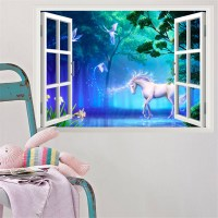 Beach Window View Scenery 3D Wall Stickers Vinyl Art Mural