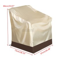 Waterproof Patio Single High Back Chair Covers Outdoor ...