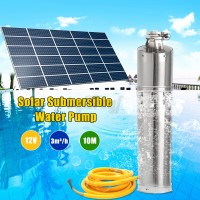 12V 132W 10M Head Brushless Steel Deep Well Solar