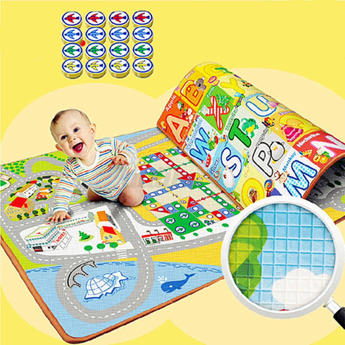 Baby Activity Foam Floor Play Mat Gym Educational Learning