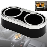 Auto Car Truck Adhesive Mount Dual Cup Holder Drink Bottle