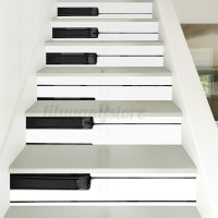 6Pcs 3D Piano Stair Risers Decoration Photo Mural Vinyl