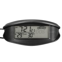 Car In/Out Digital LCD Temperature Thermometer F/C Clock ...