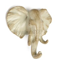 Resin Elephant Animal Wall Mount Hanger Coat Hat Key Hook ...