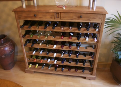 Solid Oak Wine Rack Chapman Bespoke Woodwork