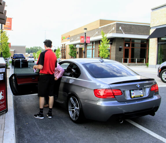 Chariot Valet Parking Services for Events, Weddings, Receptions