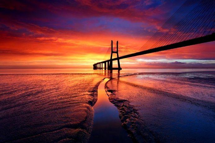 Black Aesthetic Wallpaper Ponte Vasco Da Gama Bridge One Of Longest Bridge In Europe