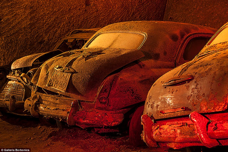 The Naples 19th Century Secret Tunnel Full of Vintage Cars and Motorbikes