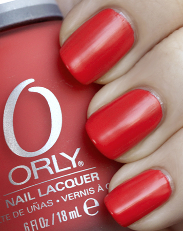 Orly Retro Red Nail Polish from the Plastix Satin Finish collection