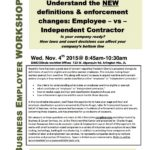 11/4/15 Understand the Enforcement Changes: Employee vs Independent Contractor Presentation from Chuck Krugel