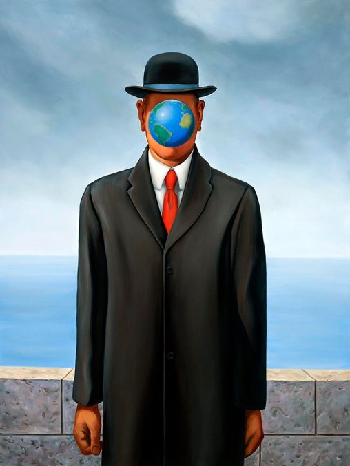 Son of Earth after Magritte
