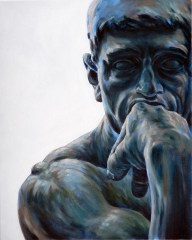 The Thinker after Rodin, detail