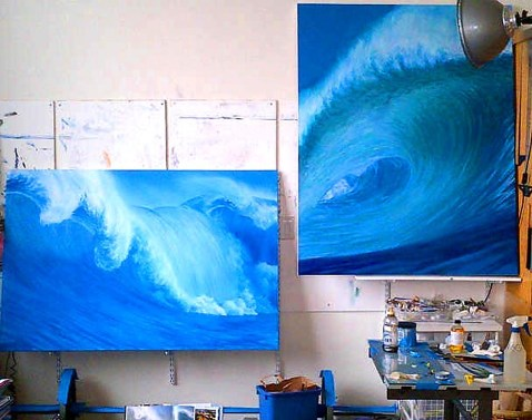 The Wave and Rogue Wave in progress in studio.