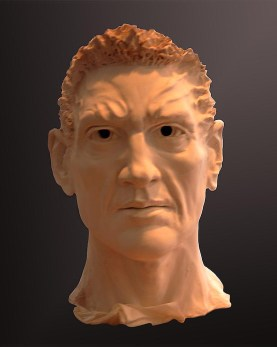 Sculpture, Gladiator, front