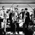 """Eastwood After Hours"" Live at Carnegie Hall with Charles McPherson, James Moody & others. October 1996. Photo Credit: Arthur Elgort"