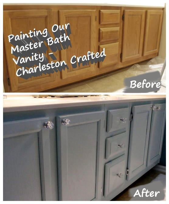 Painting the Bathroom Vanity - Charleston Crafted