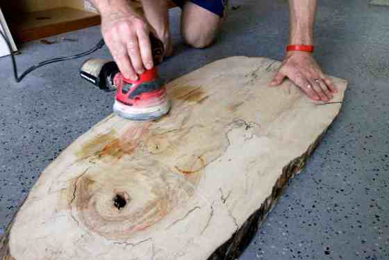 DIY Live Edge Wood Slab Coffee Table via Amazon The Lumber Shack - Charleston Crafted
