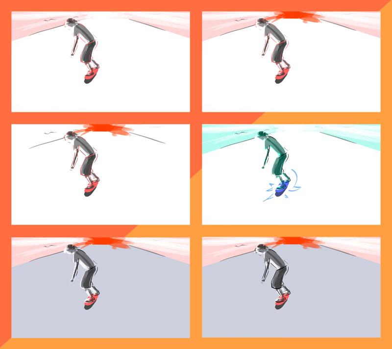 Skateboarding Roto Frames 2