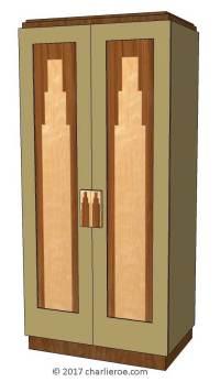 New Art Deco bedroom wardrobes & built-in bedroom furniture