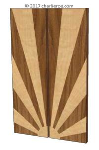 New Art Deco carved & marquetry cabinet cupboard furniture ...