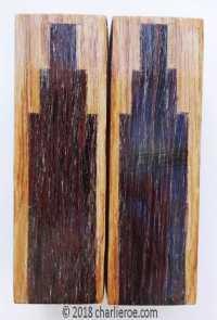 New Art Deco Skyscraper style marquetry wood veneered ...