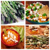 Red & Green: Panko Crusted Asparagus Fries & Smoky Red Pepper Hummus
