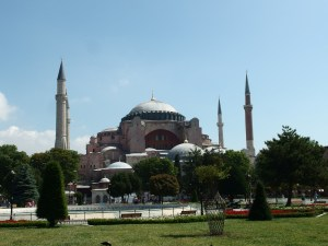 Hagia Sophia, now a museum, from a distance
