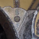 Most of the Hagia Sofia is painted in yellow with different pattern but at some places the underlying mosaics have been freed