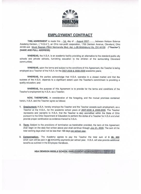 Standard Employment Agreement Kicksneakers