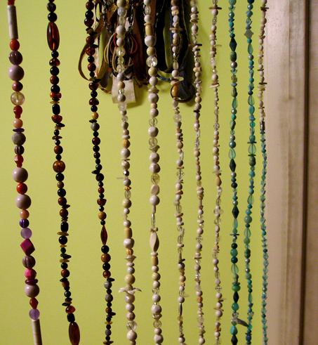 DIY beaded curtain