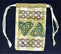 Rubber Stamped Celtic Gift Bag