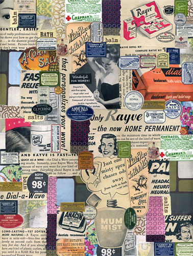 Collage on cardstock
