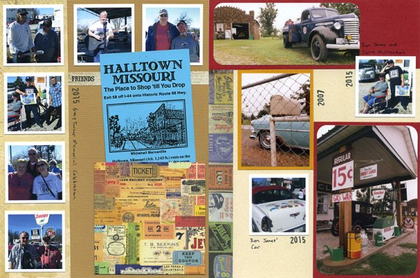 8.5 x 11 Scrapbook Pages of Route 66 Events and Locations Between Springfield and Carthage
