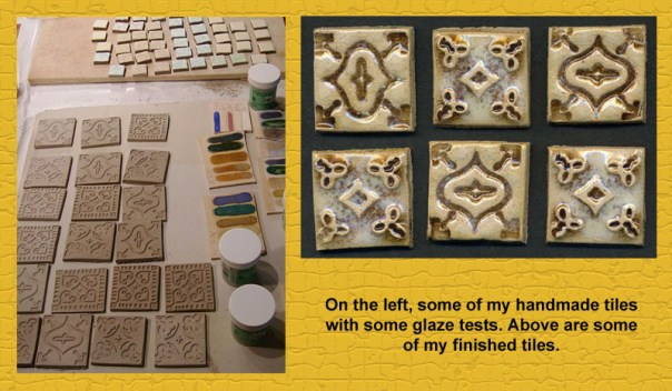Tiles that I made for my kitchen