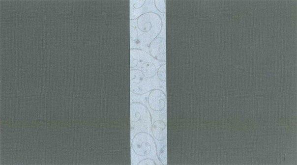 Glue paper piece to the inside fold seam.