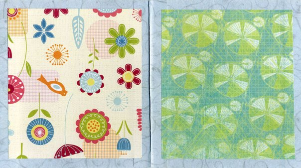 Glue decorative papers to front and back covers.