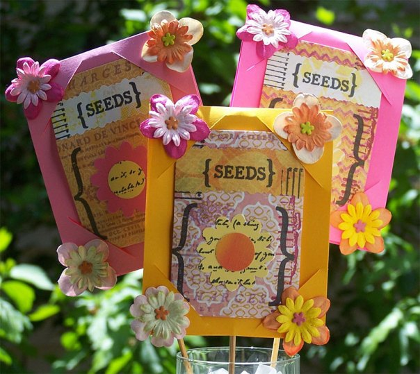 A bouquet of seed packets