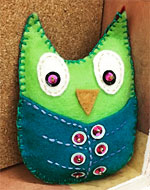 Sew a Felt Owl with a Pocket